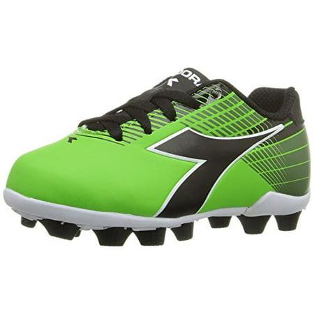 Big Soccer Shoes (Diadora Kids Ladro MD Jr Soccer Shoe, Lime/Black, 3 M US Big Kid )