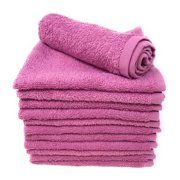 Goza Towels Cotton Washcloths (12-Pack, 12 x 12 inches) Mulberry