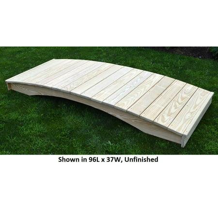 Backyard Crafts Oak Stained Weight-Bearing Pine Plank Garden Bridge - 3' x 4'