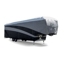 Camco ULTRAGuard Supreme RV Cover-Extremely Durable Design Fits Fifth Wheel Trailers 23' -25', Weatherproof with UV Protection and Dupont Tyvek Top (56142)