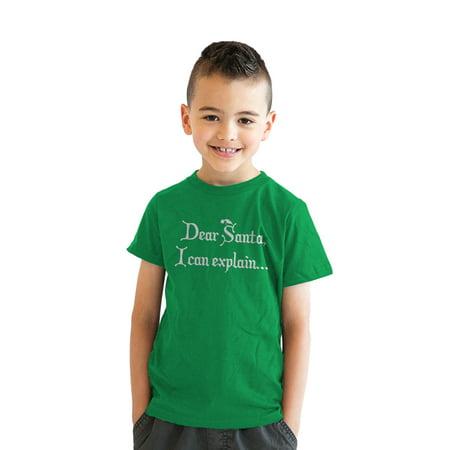 aab6ab7b0 Crazy Dog Funny T-Shirts - Youth Dear Santa T Shirt I Can Explain Shirt  Funny Christmas Tee for Kids - Walmart.com
