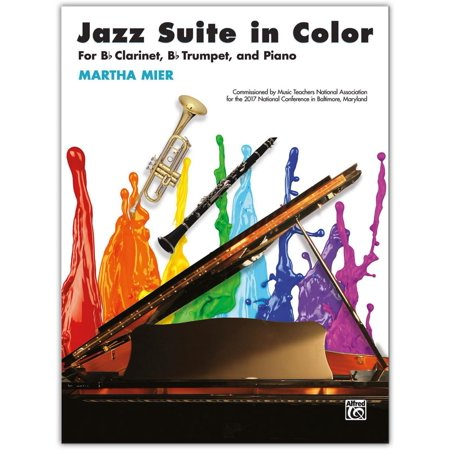 B-flat Clarinet Music Book - Alfred Jazz Suite in Color B-flat Clarinet, B-flat Trumpet & Piano Intermediate