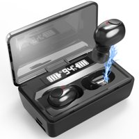 Wireless Bluetooth Earbuds, Update Bluetooth 5.0 Wireless Headphones 100 Cycle Playing Time Deep Bass Bluetooth Earphones Headset with 1800mAh Charging Case for iPhone/Android Cell Phone