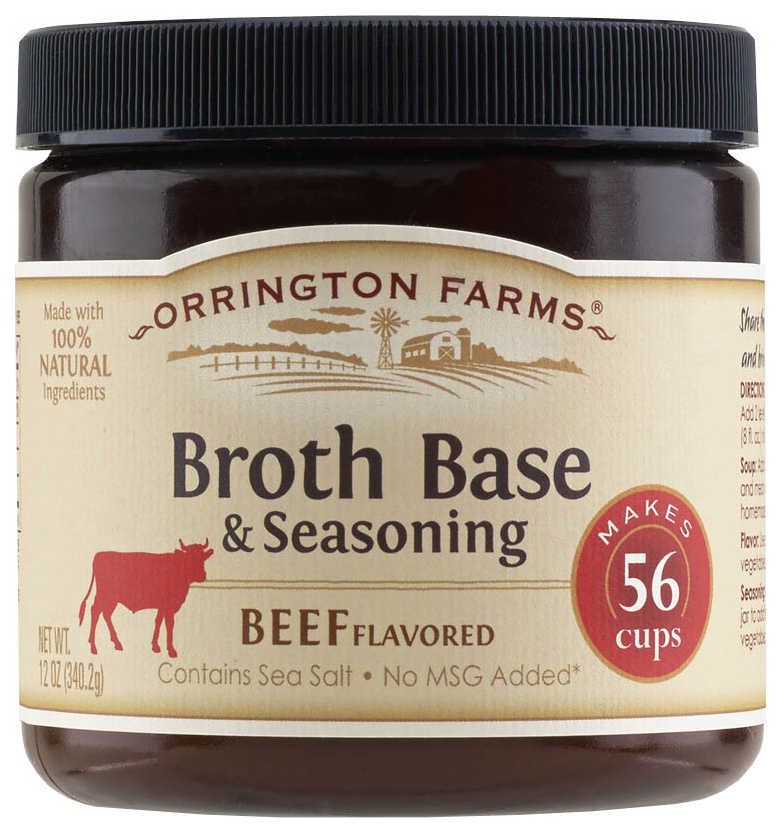 Orrington Farms Beef Flavored Broth Base & Seasoning, 12 oz