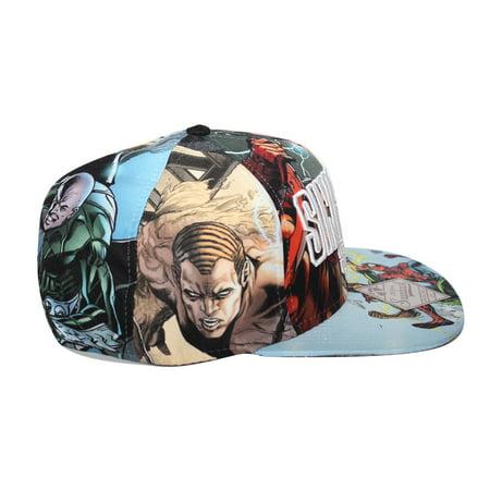 Bioworld Licensed Sinister Six - Spiderman All Over Sublimated Snapback Hat - image 3 de 5