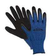 Magid ROC45TM Gloves ROC Medium Black & Blue Latex Palm Bam