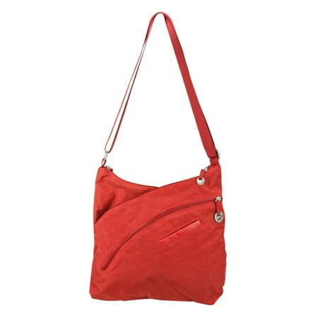Travelon Criss-Cross Organizer Shoulder Bag (Orange)