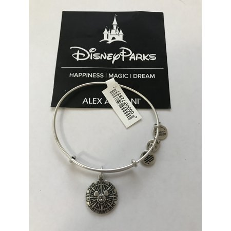 Disney 2017 Disneyland Mickey Fun Wheel Alex Ani Silver Finish Bracelet New Tag