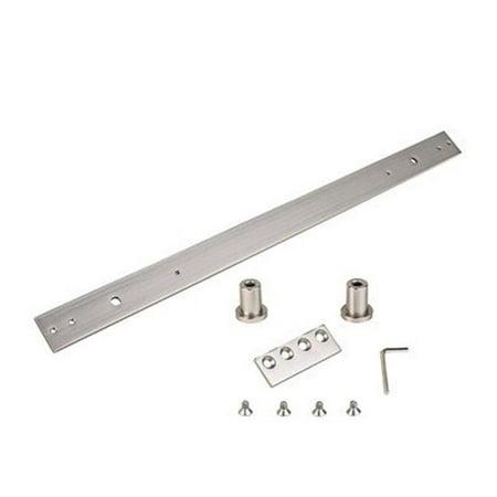 Interior Sliding Door Extension Track Kit - Satin Nickel