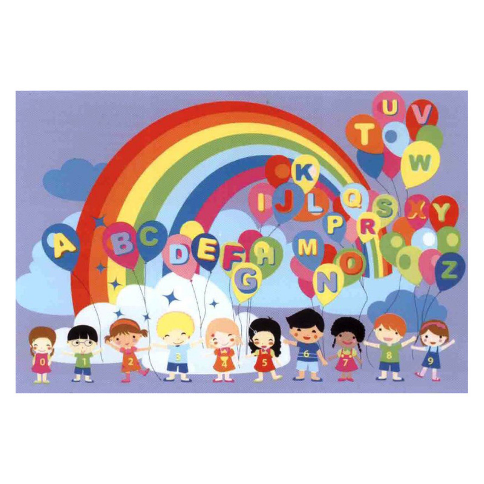 Fun Rugs Fun Time FT-512 Educational Balloons Area Rug - Multicolor