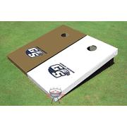 Georgia Southern University Alternating Solid Cornhole Boards