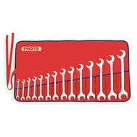 PROTO J3100M Angle Open End Wrench Set,11 Pc,Metric