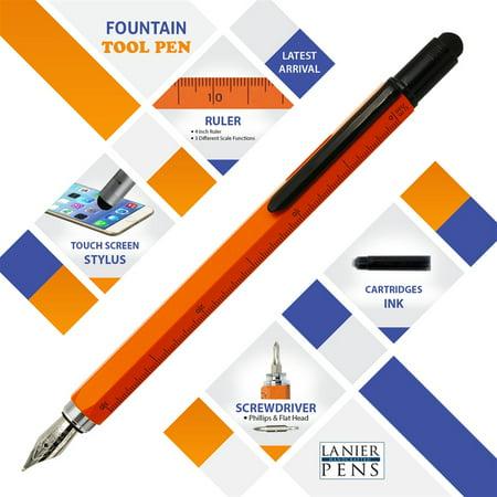 Monteverde USA One Touch Tool Pen, Fountain Pen, Orange (MV35290)