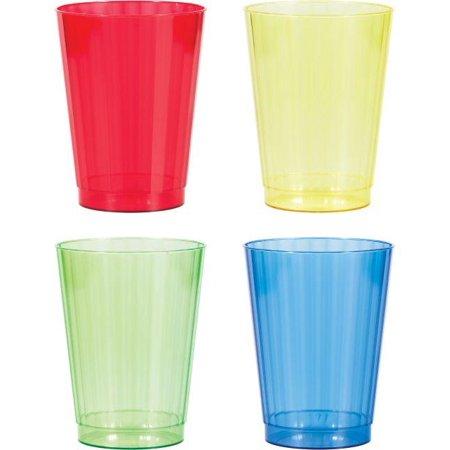 12 Oz Plastic Cups (Creative Converting Asst Colors 12 Oz Plastic Cups, 12)