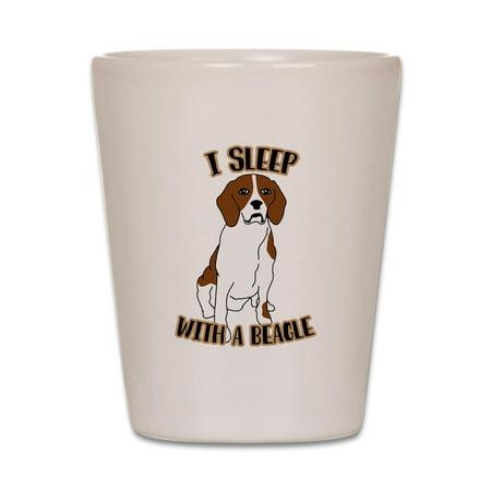 CafePress - I Sleep With Beagles - White Shot Glass, Unique and Funny Shot Glass](Funny Shot Glasses)