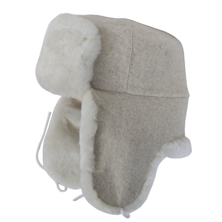 Authentic Russian ushanka military base white sheepskin hat. Current issue.  - Walmart.com d8d11af300f