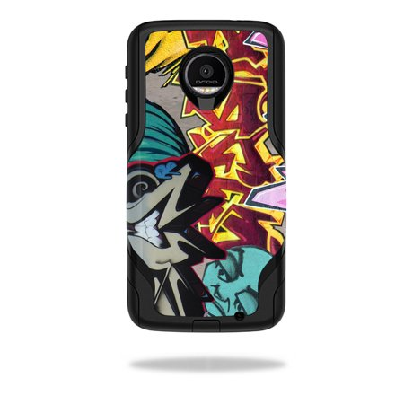 MightySkins Protective Vinyl Skin Decal for OtterBox Commuter Moto Z Force Droid Case wrap cover sticker skins Graffiti Wild Styles ()