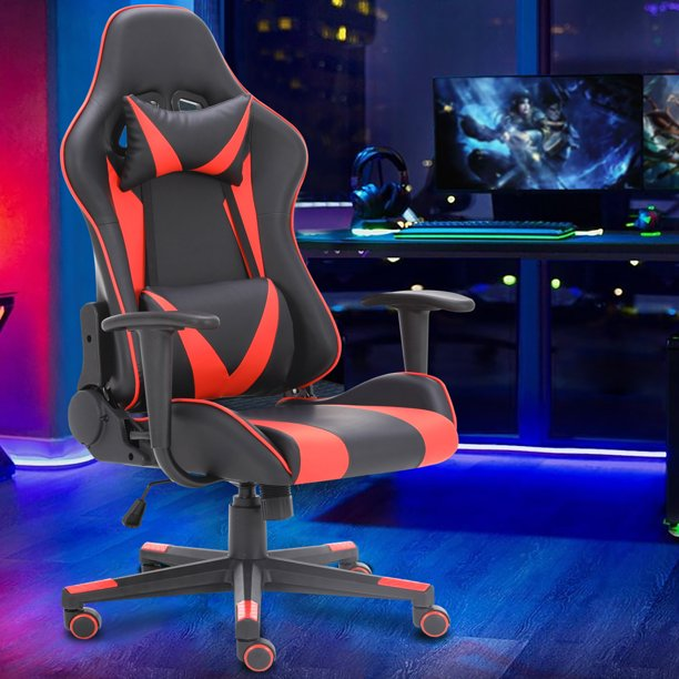 Massage Gaming Chair Reclining High Back Computer Video Game