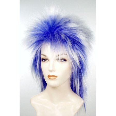 Punk Fright Wig - Red And White Wigs