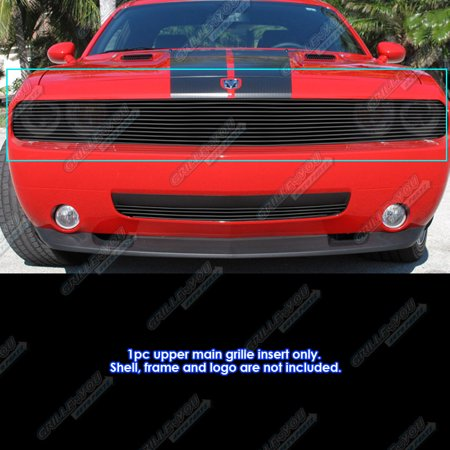 Fits 2009-2014 Dodge Challenger Phantom Black Billet Grille Insert