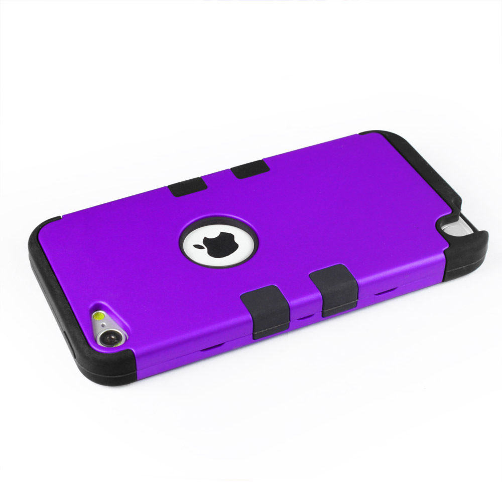 LIVEDITOR Hybrid Triple Layer Hard Case Cover Soft Shell Case Films for iPod Touch 6 5th - image 4 of 7