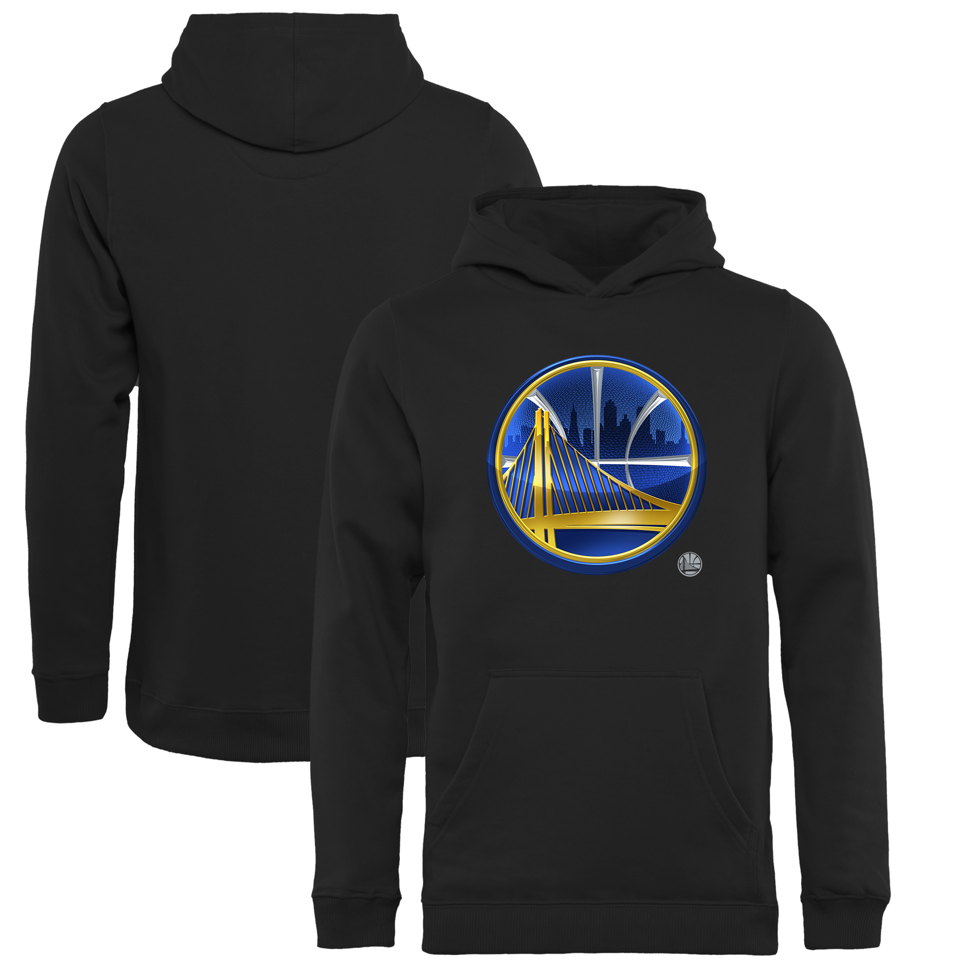Golden State Warriors Fanatics Branded Youth Midnight Mascot Pullover Hoodie - Black