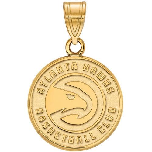 LogoArt NBA Atlanta Hawks 14kt Gold-Plated Sterling Silver Medium Pendant