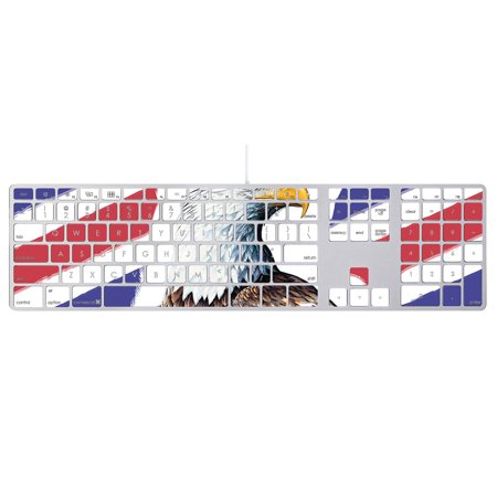 MightySkins Skin Compatible With Apple Keyboard with Numeric Keypad wrap cover sticker skins America