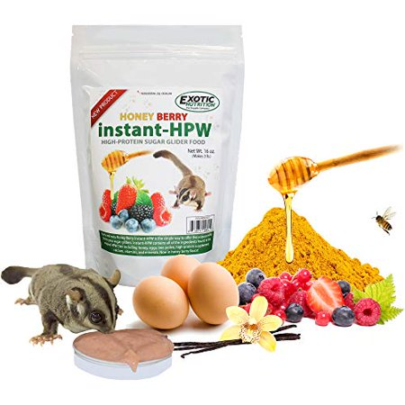 Exotic Nutrition Honey Berry Instant-HPW - High Protein Sugar Glider Food (8 oz.) Sugar Glider Nutrition