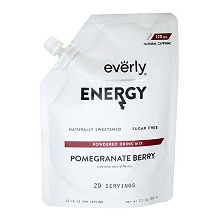 Everly, Energy Powdered Drink Mix, Pomegranate Berry, 20 (List Of Energy Drinks On The Market)
