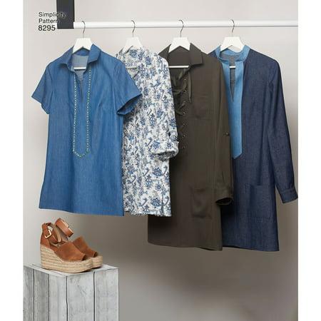 Simplicity Size 14-22 Misses Tops, Vests, Jackets & Coats Pattern, 1 Each