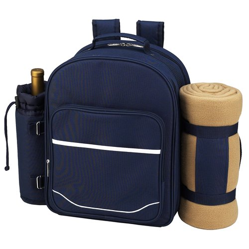 "Picnic at Ascot Picnic Backpack for Two with Blanket  15.5"" x 21"" x 6.5"""