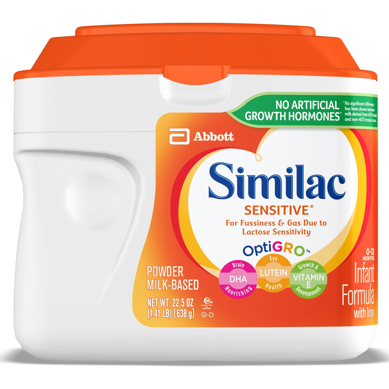 Similac Sensitive For Fussiness and Gas Infant Formula with Iron Baby Formula 22.5 oz Canisters (Pack of 6) by Similac