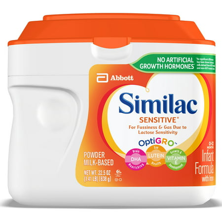 Similac Sensitive For Fussiness and Gas Infant Formula with Iron Baby Formula 22.5 oz