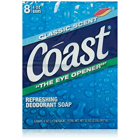 Coast Classic Deodorant Soap 4oz 8 Bars Count