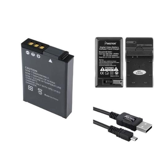 Insten EN-EL12 Lithium-Ion Battery + Charger + USB Data Cable Adapter for Nikon CoolPix S1000pj/S620/S630/S640/S70/S710