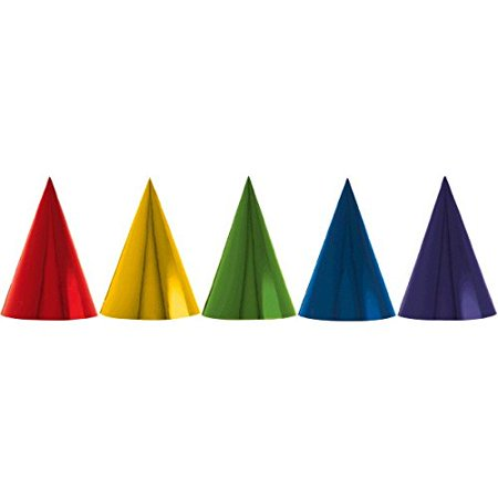 Foil Cone Party Hats | Birthday | Rainbow Collection