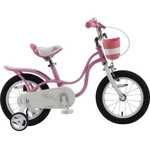RoyalBaby 2017 newly-developed Little Swan Girl's Bike with basket, 14 inch with training wheels, gifts for kids