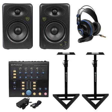 - Presonus Monitor Station V2 Control Center+(2) Studio Monitors+Stands+Headphones