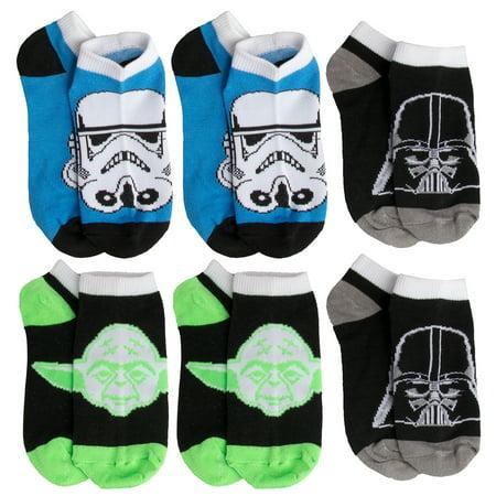 257c9799932f2c Planet Sox - Disney (6 Pack) Toddler Little Kids Socks No Show Star Wars  Socks Youth Low Cut Athletic For Boys Girls - Walmart.com