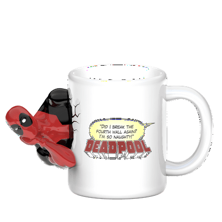 Zak! Designs 11 Ounce Marvel Comics Deadpool Coffee Mugs - Pastel 11 Ounce Mug
