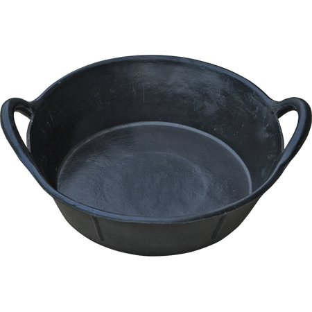 Miller Mfg Co Inc P-Little Giant Rubber Pan With Handles- Black 3 Gallon
