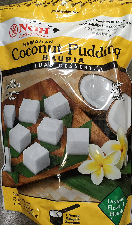 NOH Hawaiian Coconut Pudding Haupia Luau Dessert Mix Large 3 lb (48 oz-1.36 KG) pack... by