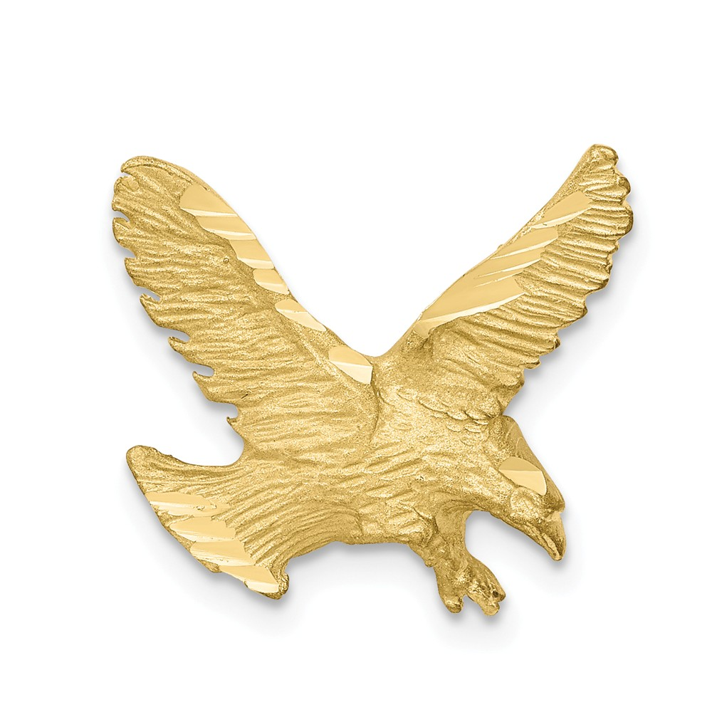 10k Yellow Gold Solid D/C Eagle Charm Pendant