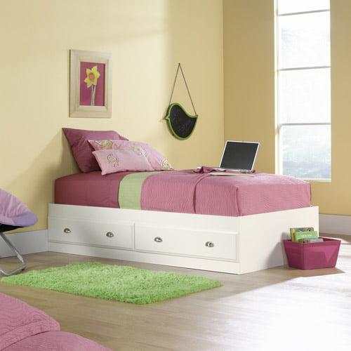 Sauder Shoal Creek Twin Mate's Bed, Soft White