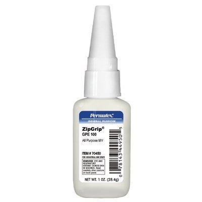Zip Grip Gpe 100 Cyanoacrylate Adhesives, 1 Oz