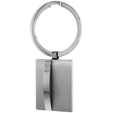 Stainless Steel Keychain Square Tag Engravable, 2 1/2 - Engravable Keychains