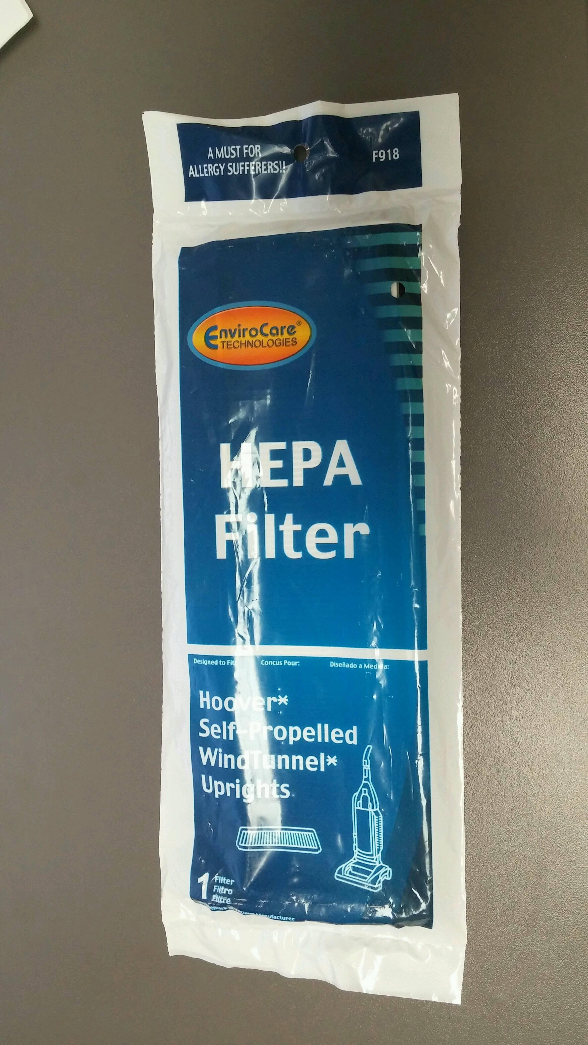 Hoover Windtunnel Pleated HEPA Vacuum Filter Upright 2 Self propelled Vacuum