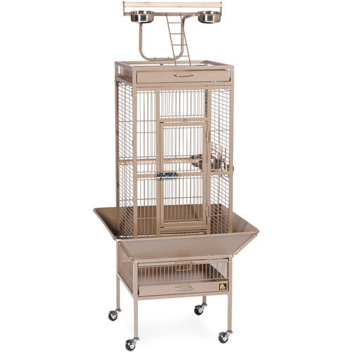 "Prevue Pet Products 18""x18""x57"" Wrought Iron Select Birdcage, Coco Brown"