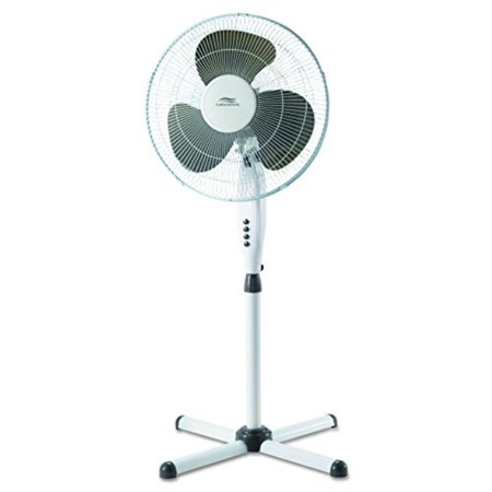 lakewood lsf1610c bm white oscillating stand fan with x base 16 inch